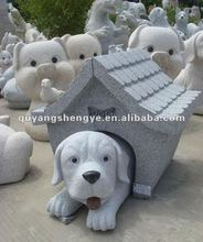 new design stone dog&house sculpture