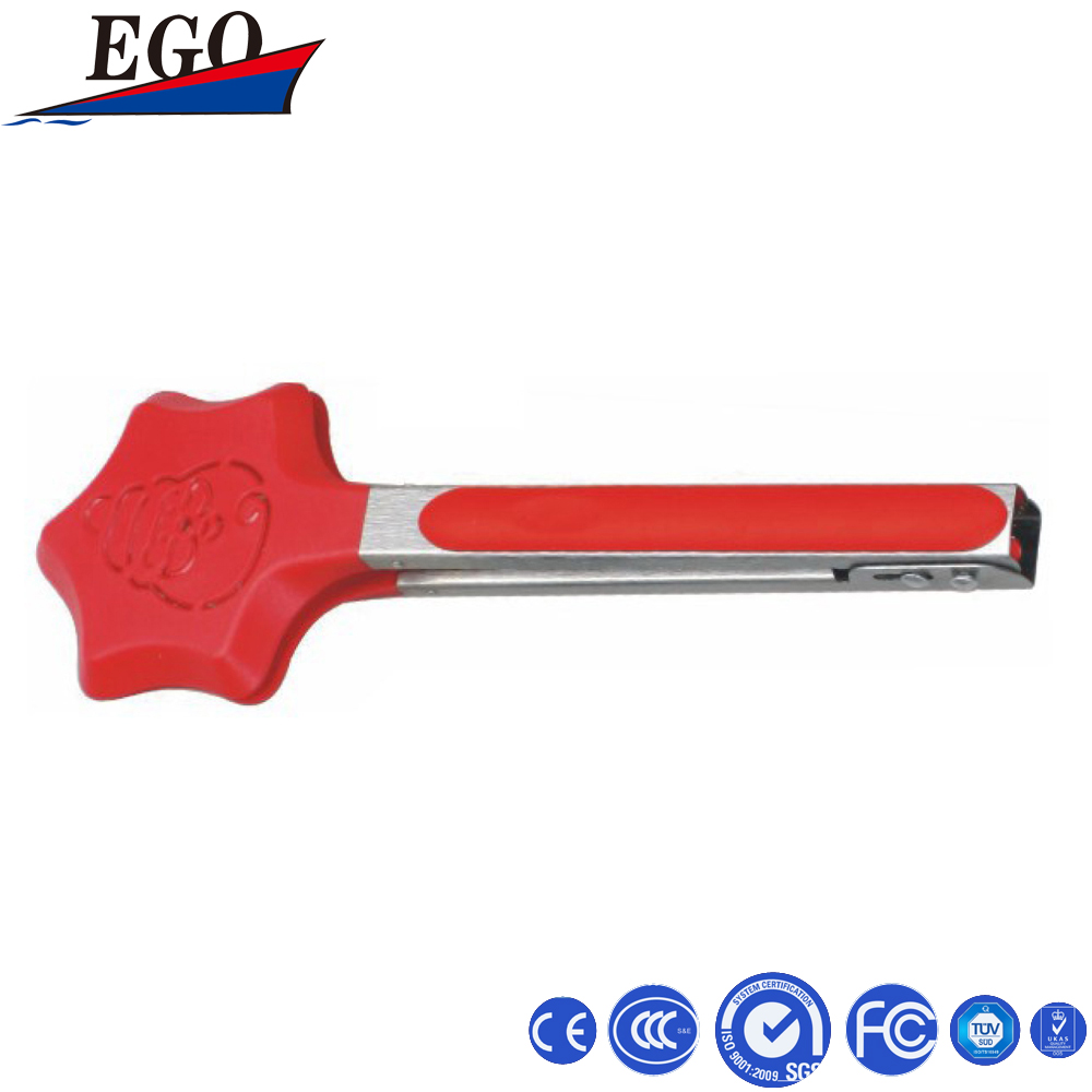 Silicone plastic tongs for children