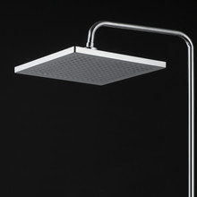 ABS plastic bathroom overhead shower colors changing led lights waterfall shower head