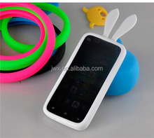 multi-function silicone wrist ring bumper case for rabbit ear phone case soft circle cover for phone