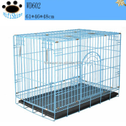 "2 x 24"" 2 Doors pet cage Suitcase Small Folding Wire Dog Puppy Crate Cage Kennel"