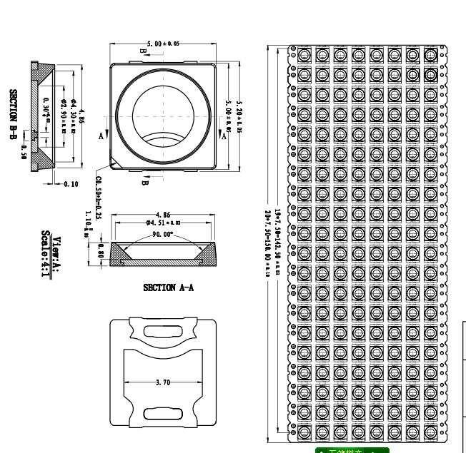 Factory Price 5050 SMD 3.0mW 265nm 280nm 310nm UVC LED
