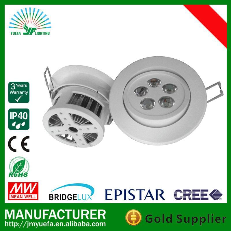 High lumen recessed led downlight 5w dimmable 95mm cut out led downlight led downlight