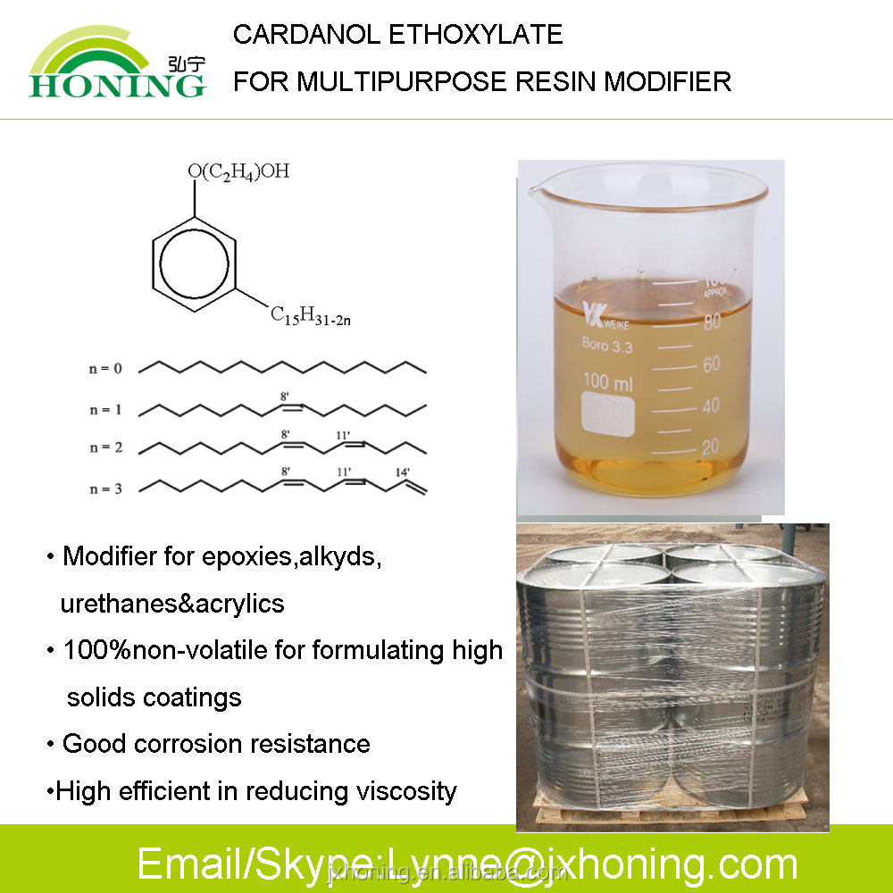 High Purity Low Ash Content Cardanol for Phenalkamines Epoxy Curing Agents