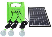 Portable mini design home lighting solar power system with solar panel
