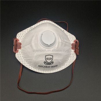 Disposable face mask for dust mask n95
