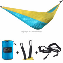 Parachute Fabric Doublenest Leisure Ways Hammock with Strap Ends