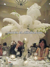 Carnival feather centerpiece wedding favors