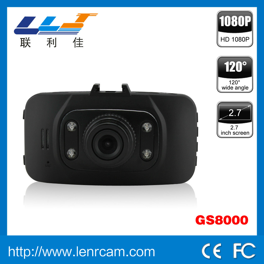 Factory price high quality GS8000 General Plus chipset 2.7 inch screen car camera 120 degree wide angle VGA fhd car dvr