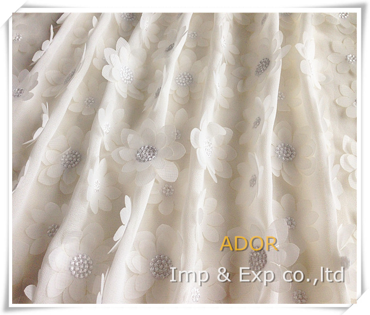 China textile supply chiffon cutwork embroidery dress fabric