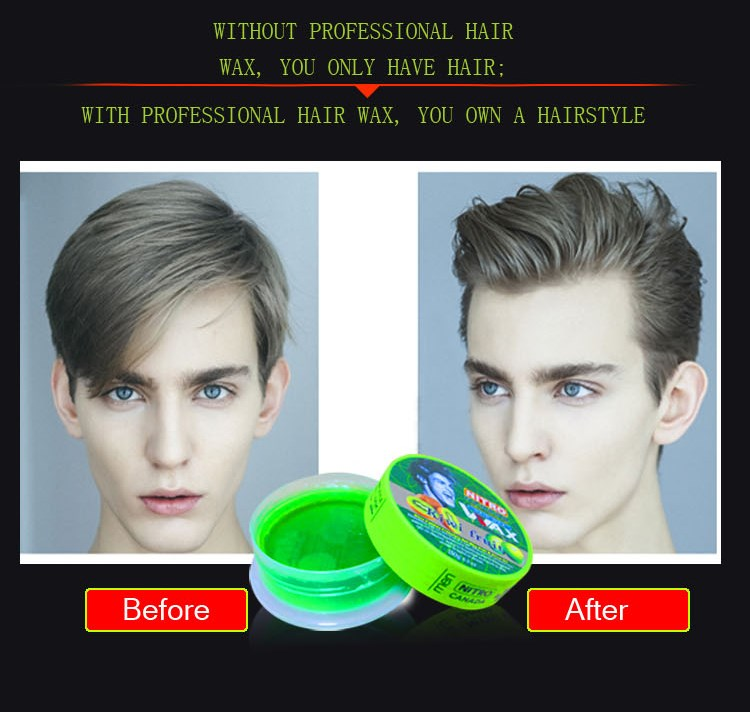 Professional organic clear hair styling waxhair style wax 6 sliver color elasticity wax