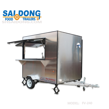 Most popular style mobile food truck snack food cart design