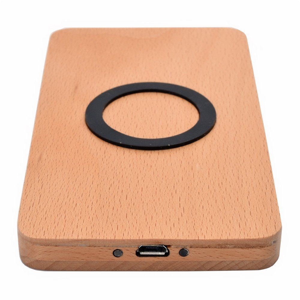 12v Natural Real Wood Bamboo Qi Wireless charging Charger Pad Charging Mat for Smart Phone