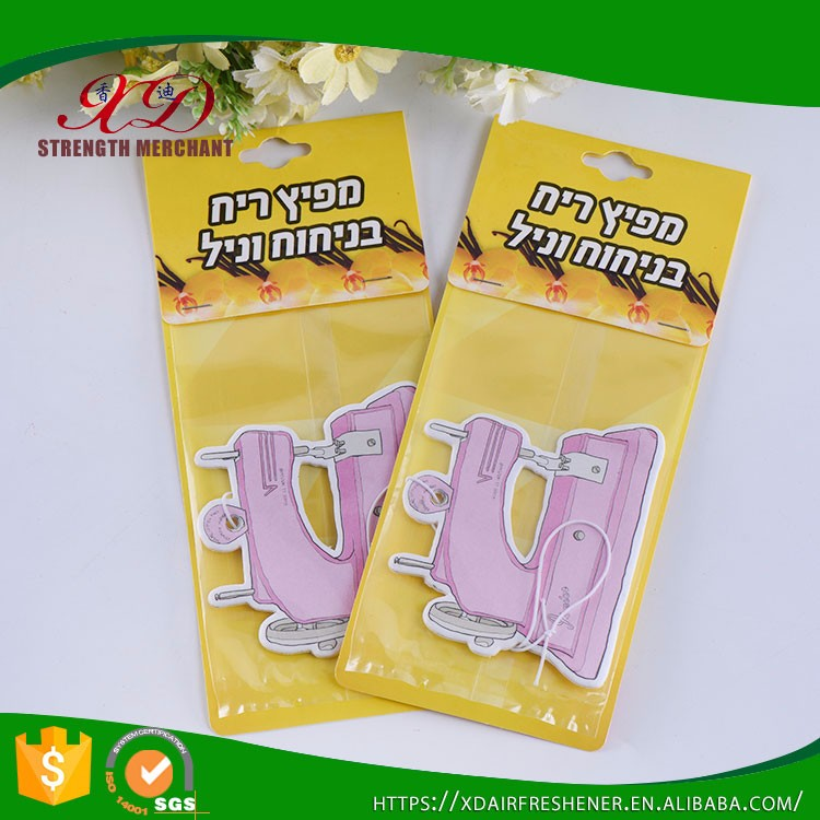 Eco-friendly Custom Design Air Fresheners Paper For Car and Home