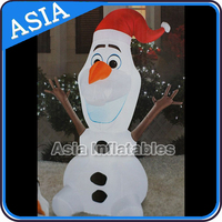 Fashion 0.18mm PVCChristmas Festival Inflatable Snow Man For Advertising