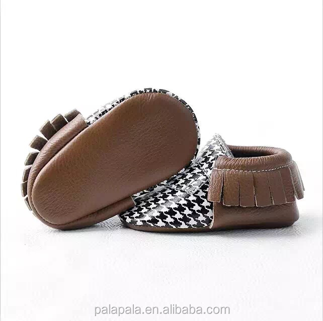 new arrive Swallow gird leather baby girls shoes india handmade fringe baby moccasins