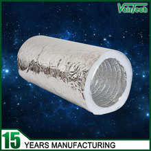 heat resistant non-toxic polyester fabric insulated flexible aluminum air duct