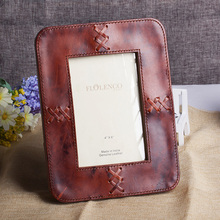 Nice design Brown leather photo frame