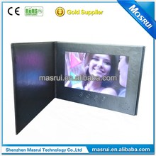 Wholesale 10 inch Custom Digital Video Greeting invitation brochure Card for christmas and wedding