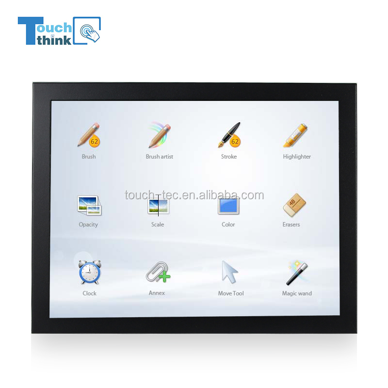 "19"" widescreen industrial LCD touch panel pc monitor"