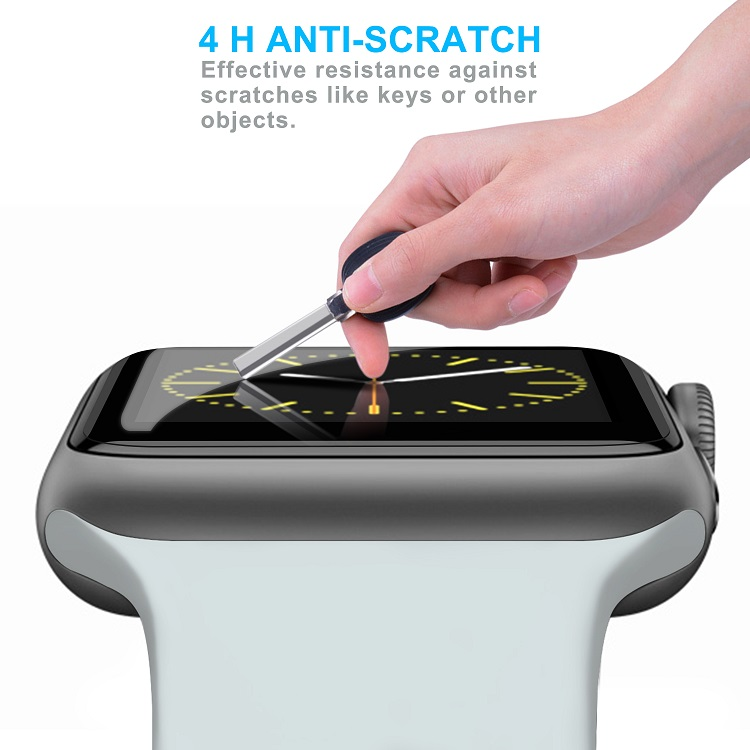 Scratchproof Bubble-Free Watch Screen Protector For Apple Watch Series 1 2 3 4