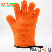 yellow colour warm cotton kitchen silicone finger tips gloves