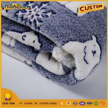 Custom Size Animal Printed Soft Flush Throw Cheap Coral Fleece Blanket