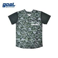 Custom sublimation camo full dye baseball jerseys