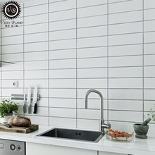 kitchen room decorated white porcelain subway <strong>tiles</strong>
