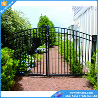Low price new design galvanized metal fence gate / house morden gates and fence design