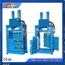 Factory Direct Sale cardboard baling press machine/used clothing baling machine