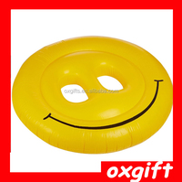 OXGIFT Inflatable floating row smiling face,High Quality Giant Inflatable Pool Smiling Face