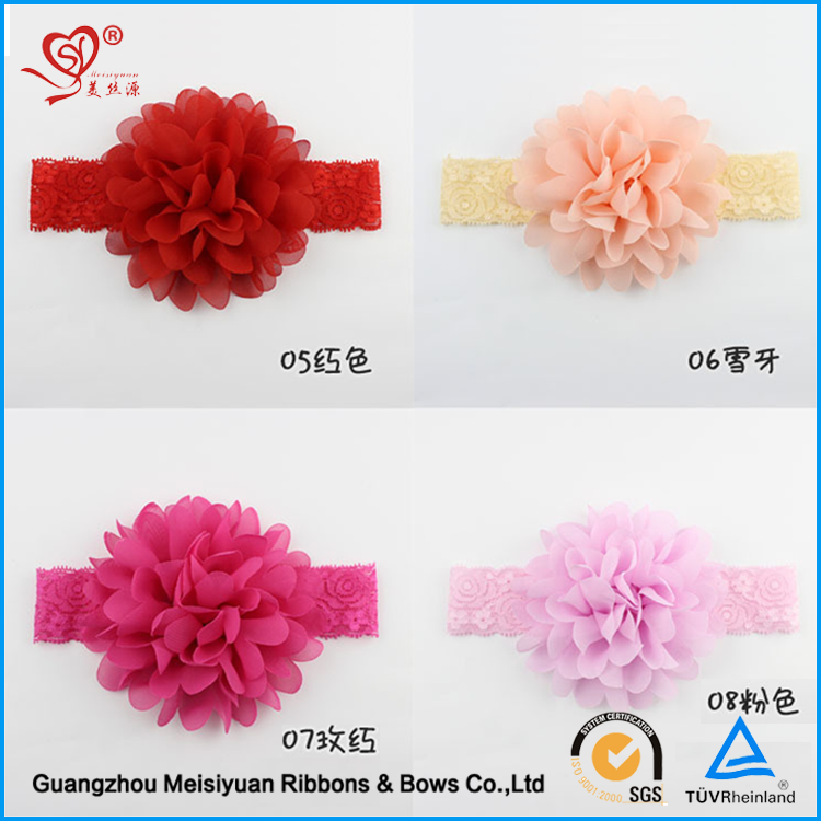 Wholesale Cute Infant Hairband Kids Hair Bow With Elastic Band