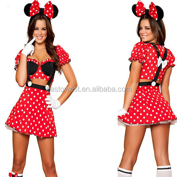 factory direct mickey and minnie mascot costume,custom clothing