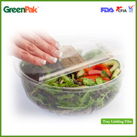 GreenLid 25um Peelable Anti-fog High Barrier sealable Lidding Film For Tray