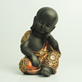 Hot selling polyresin gold buddha baby monk figurines statue