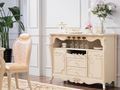 Concise solid wood two doors sideboard with drawers
