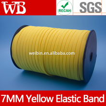7MM Yellow Elastic Straps For Respirator Masks