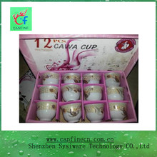 China ceramic mug supplier stock high quality promotional 80cc ceramic cawa cups