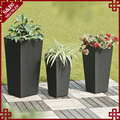 Set of 3 outdoor patio decor resin wicker woven flower planter garden pot