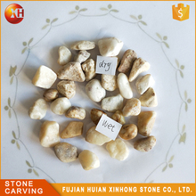 Wholesale Outdoor Paving Polish Rock Yellow Stone Pebble For Landscape