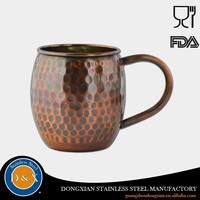 New Arrival Stainless Steel Drinking Copper Cups Tins Mugs