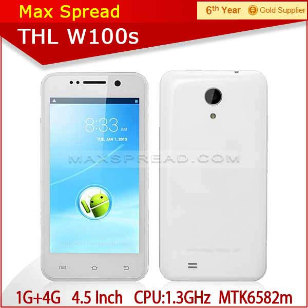 Hot original thl w100s quad core smartphone 4.5'' WCDMA in stock unlocked cheap phones for sale