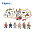 High Quality Wooden Train Toys Children Building Blocks Railway Scale Model Construction Toy