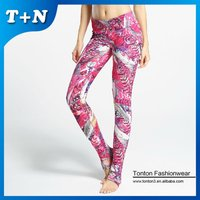 printed leggings tight polyester spandex yoga pants