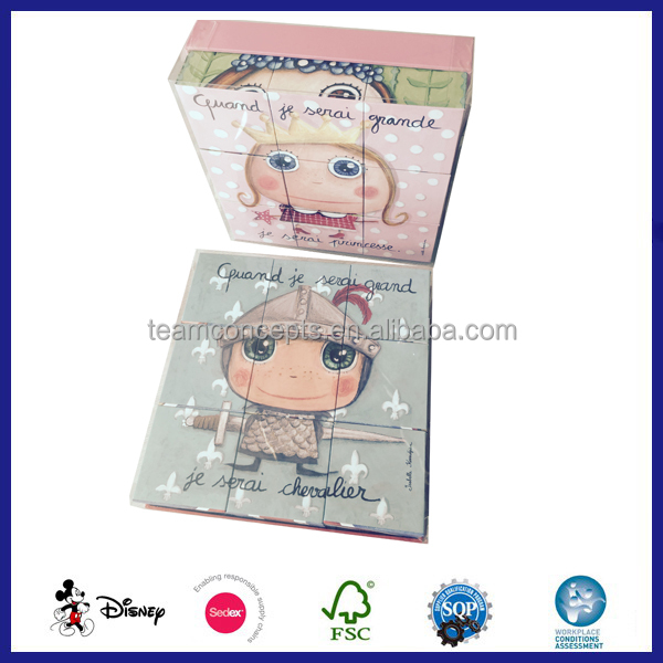 cardboard personalized puzzle cube
