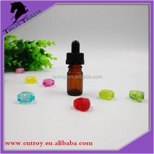 5ml amber round glass bottle for cosmetic packaging with child-resistant cap
