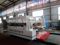 Fully automatic carton box making machine/high cost-effective 3 colors printer slotter die cutter machine
