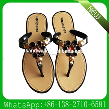 new design women rubber flip flop cheap sandal wholesale