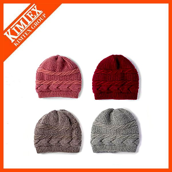 Wholesale knitted winter cable knit beanie